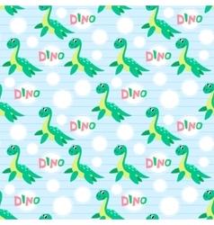 Water dinosaur seamless pattern vector image vector image