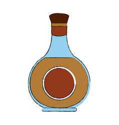 whisky glass bottle vector image