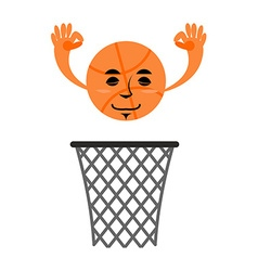 Basketball and ring Game accessories Hit in net vector image