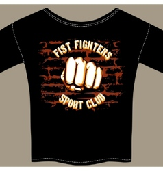 Cool Fight Club Shirt Template Design vector image vector image