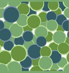 green blue circles seamless pattern abstract vector image vector image