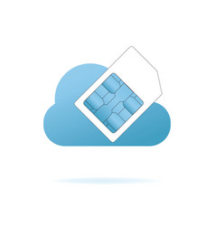 sim card in the blue cloud vector image vector image