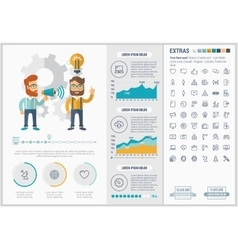 Social Media flat design Infographic Template vector image