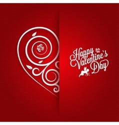 Valentines Day Vintage Card Ornate Background vector image