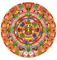 Aztec calendar vector image vector image