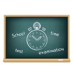 board school stopwatch vector image vector image