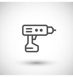 Electric screwdriver line icon vector image vector image