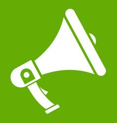 megaphone icon green vector image