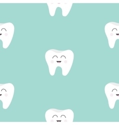 Seamless Pattern Tooth health Cute funny cartoon vector image vector image
