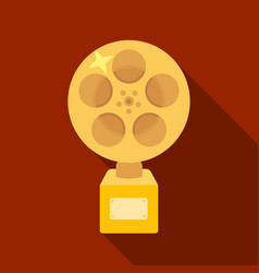 the golden reel of filmaward for the best vector image