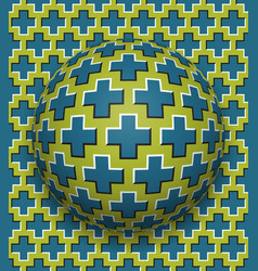 crosses patterned ball rolling along the same vector image vector image