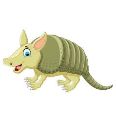 funny armadillo cartoon posing vector image