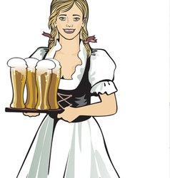 pub waitress beer festival vector image