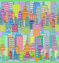 seamless background with city building different vector image vector image