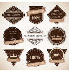 Set of premium quality best choice and guaranteed vector