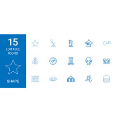 15 shape icons vector
