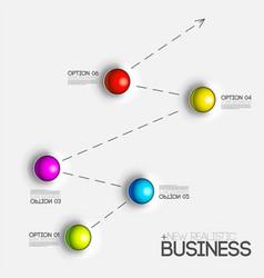 3d chart diagram business presentation realistic vector