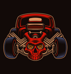 a colorful a cartoon hot rod vector image