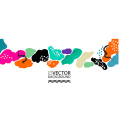 abstract trendy background placard style flat and vector image