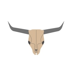 Animal head skull of wild bull flat vector image