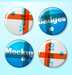 badge template for your design and branding vector image
