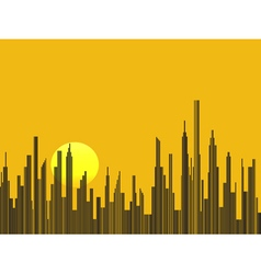 Big city silhouette background vector