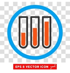 Blood Test Tubes Eps Rounded Icon vector image