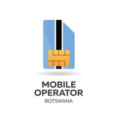 botswana mobile operator sim card with flag vector image