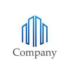 Building architecture design company logo vector