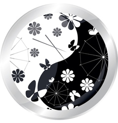 Button with jaran parasol vector