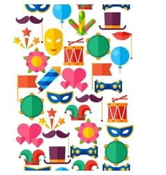 Celebration seamless pattern with carnival flat vector
