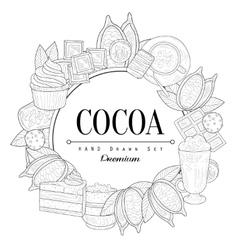 Cocoa Vintage Sketch vector image
