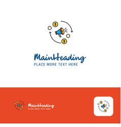 creative speaker logo design flat color logo vector image