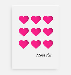 cut the pink heart on the paper and a white vector image