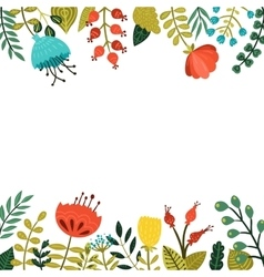 Cute floral frame vector