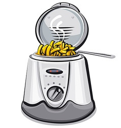 deep fryer vector image