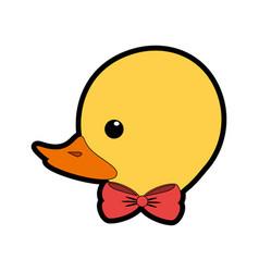ducky toy cartoon vector image