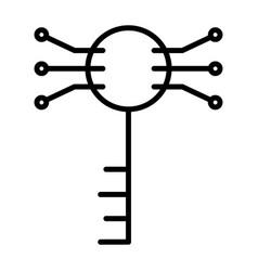 Electronic circuit key line iconminimal pictogram vector