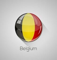 european flags set - belgium vector image