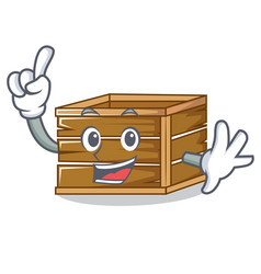 Finger crate mascot cartoon style vector