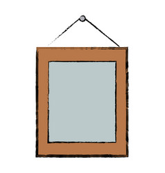 Frame photo picture hanging ornament vector