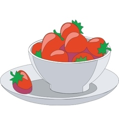 fruitcup 01 vector image