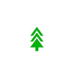 green sketch of trees vector image