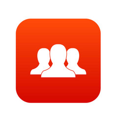 group of people icon digital red vector image