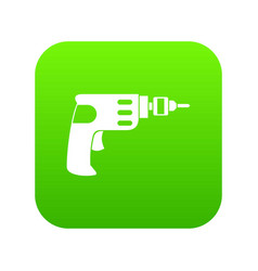 Hand drill icon digital green vector