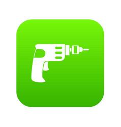 hand drill icon digital green vector image