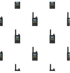 Handheld transceiver icon in cartoon style vector