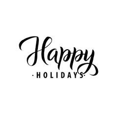 Happy Holidays Merry Christmas Calligraphy vector