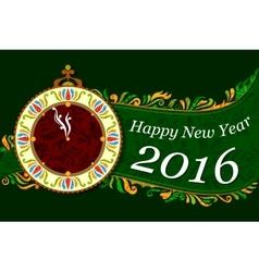 Happy New Year celebration background vector image
