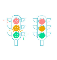 icon traffic light vector image